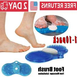 1-10Pack Shower Feet Foot Scrubber Massager Cleaner Spa Exfo