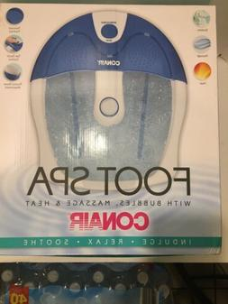 Conair Foot Spa with Bubbles, Massage and Heat! New in Box!