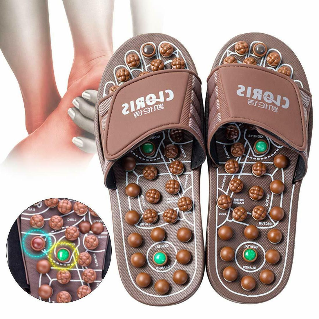 foot acupressure massage slippers powerful natural stone