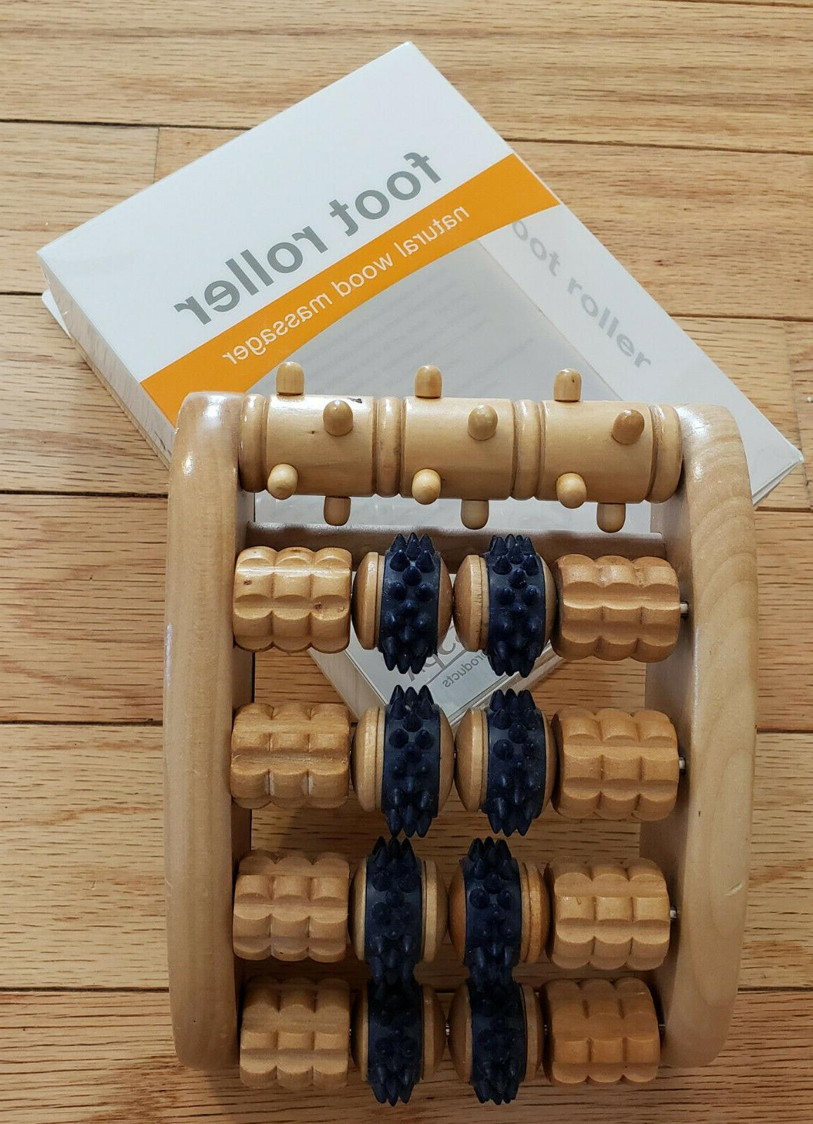 foot roller natural wood massager from