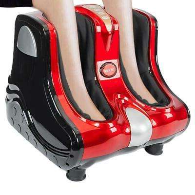 Heating Calf Ankle Leg Massager Red