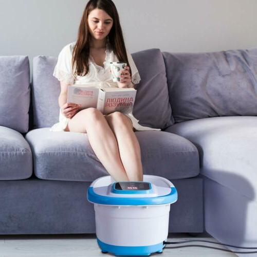 Foot Bath Massager w/ Control Relief