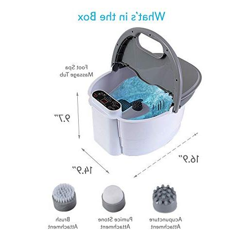 SereneLife Hydro Therapy Foot Bath Massager Kneading Vibration, Bubble, Temp -