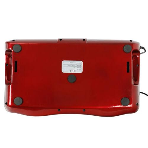 Home Red Switchable Massage Kneading Rolling