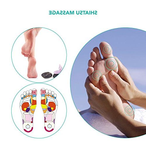 Naipo Foot with Heat Shiatsu Feet Massager - Plantar Toes, & for Office