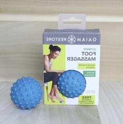 NEW Gaiam Foot Roller Ball Blue Therapy Massage Rubber Acupr