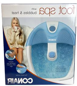 New Conair Massaging Foot Spa with Bubbles, Heat & Light wit