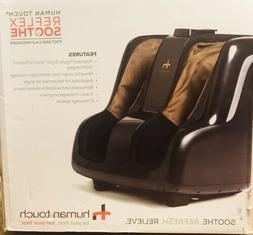 HUMAN TOUCH Reflex Soothe Foot and Calf Massager in Black/Br